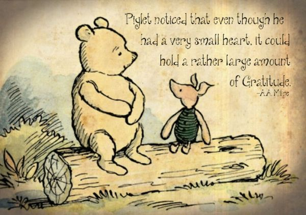 Piglet is grateful